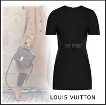 Louis Vuitton 2019-20AW SHORT SLEEVED DRESS black 34-42 dress