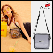 KIRSH Street Style Crystal Clear Bags PVC Clothing Shoulder Bags