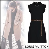 Louis Vuitton 2019-20AW SLEEVELESS DRESS  black 34-42 dress