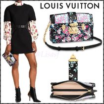 Louis Vuitton Flower Patterns Blended Fabrics 2WAY Leather Elegant Style