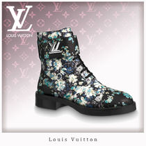 Louis Vuitton Flower Patterns Leather Ankle & Booties Boots