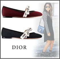 Christian Dior Suede Ballet Shoes