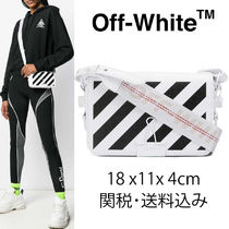 Off-White BINDER CLIP Street Style Leather Shoulder Bags
