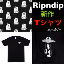 RIPNDIP Unisex Street Style U-Neck Short Sleeves T-Shirts