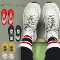 BOTTEGA VENETA Unisex Street Style Plain Leather Sneakers