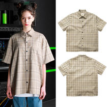perstep Other Check Patterns Casual Style Unisex Street Style Cotton