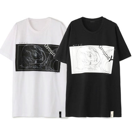 Yohji Yamamoto More T-Shirts Unisex Cotton Short Sleeves T-Shirts