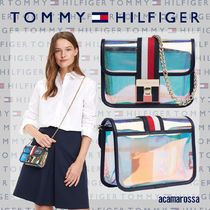 Tommy Hilfiger Chain Crystal Clear Bags Shoulder Bags