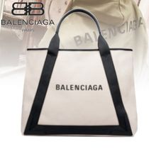 BALENCIAGA CABAS Blended Fabrics Plain Leather Totes