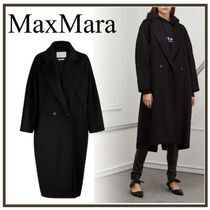 MaxMara Casual Style Wool Plain Long Chester Coats