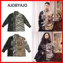 AJO AJOBYAJO Casual Style Unisex Street Style Cotton Shirts & Blouses