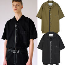 ANDERSSON BELL Street Style Plain Short Sleeves Shirts