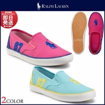 Ralph Lauren Round Toe Casual Style Low-Top Sneakers