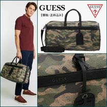 Guess Camouflage Unisex Street Style A4 Boston Bags
