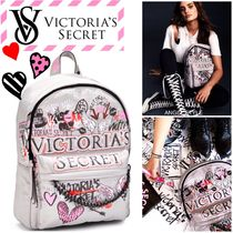 Victoria's secret Heart Casual Style Nylon A4 Chain Backpacks