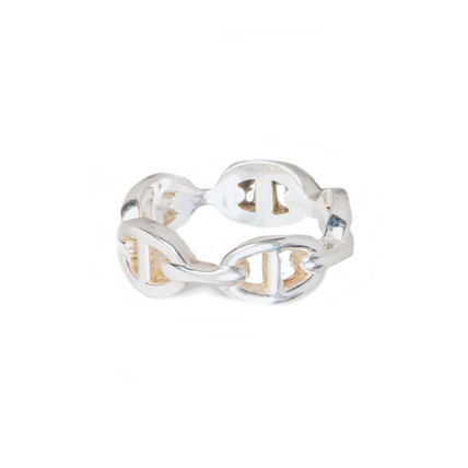 HERMES Rings Chaine D'Ancre Enchainee Ring Small Model