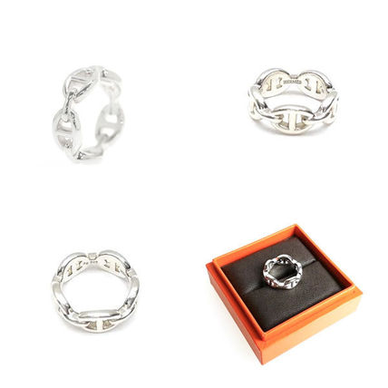 HERMES Rings Chaine D'Ancre Enchainee Ring Small Model 2