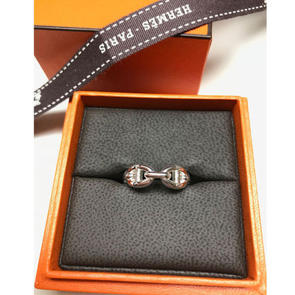 HERMES Rings Chaine D'Ancre Enchainee Ring Small Model 3