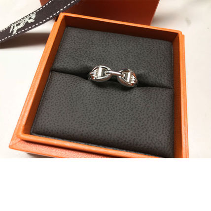HERMES Rings Chaine D'Ancre Enchainee Ring Small Model 4