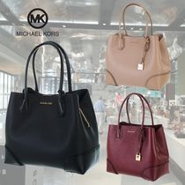 Michael Kors MERCER Casual Style 2WAY Leather Totes