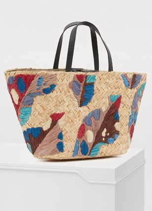 Casual Style Blended Fabrics Leather Totes