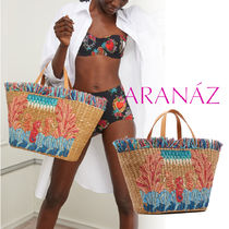 ARANAZ Casual Style Blended Fabrics Leather Totes