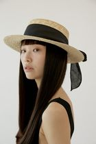 Unisex Collaboration Straw Boaters Straw Hats