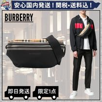 Burberry Other Check Patterns Plain Hip Packs