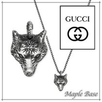 GUCCI Unisex Street Style Other Animal Patterns Silver