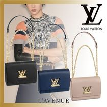 Louis Vuitton EPI Street Style 2WAY Chain Plain Leather Elegant Style