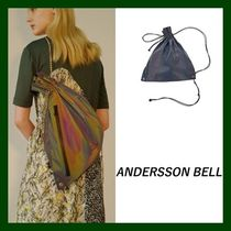 ANDERSSON BELL Unisex Street Style Plain Backpacks