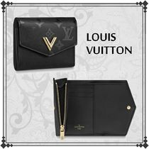 Louis Vuitton Monogram Unisex Leather Folding Wallets