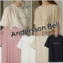 ANDERSSON BELL Unisex U-Neck Plain Cotton Short Sleeves T-Shirts