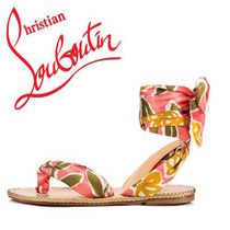 Christian Louboutin Tropical Patterns Lace-up Sandals