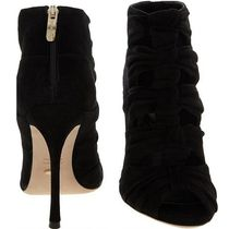 Sergio Rossi Open Toe Pin Heels Elegant Style Ankle & Booties Boots