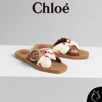 Chloe Open Toe Blended Fabrics Other Animal Patterns Sandals