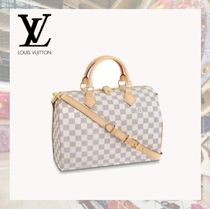 Louis Vuitton DAMIER AZUR Other Check Patterns 2WAY Special Edition Handbags
