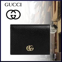 GUCCI GG Marmont Leather Folding Wallets