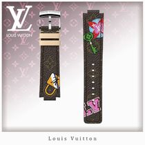 Louis Vuitton MONOGRAM Unisex Blended Fabrics Leather Watches