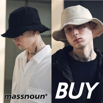 MASSNOUN Unisex Street Style Bucket Hats Hats & Hair Accessories
