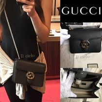 GUCCI 2WAY Leather Elegant Style Shoulder Bags