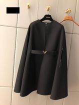 VALENTINO Short Wool Plain Ponchos & Capes