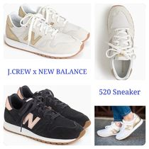 J Crew Plain Toe Lace-up Casual Style Suede Low-Top Sneakers