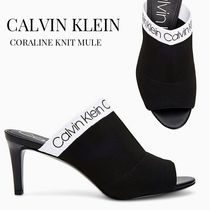Calvin Klein Open Toe Casual Style Plain Pin Heels Heeled Sandals