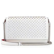 Christian Louboutin Paloma Calfskin Studded 3WAY Chain Plain Elegant Style Clutches