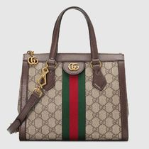 GUCCI Ophidia Stripes Canvas 2WAY Elegant Style Logo Totes