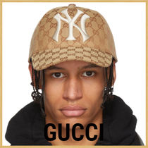 GUCCI Unisex Blended Fabrics Street Style Collaboration Caps