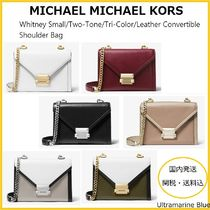 Michael Kors WHITNEY 2WAY Chain Plain Leather Shoulder Bags
