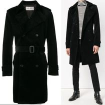 Saint Laurent Plain Long Trench Coats