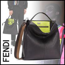 FENDI PEEKABOO Calfskin 2WAY Plain Messenger & Shoulder Bags